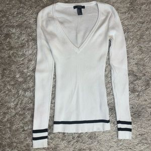 Ribbed Long Sleeve V-Neck